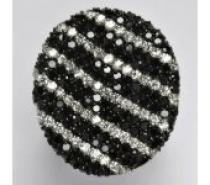 Čistín stříbrný prsten s čirými a černými zirkony 12,02 g