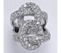 Čistín stříbrný prsten s čirými zirkony, 10,01 g
