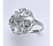 Čistín stříbrný prsten s čirými zirkony, 7,10 g