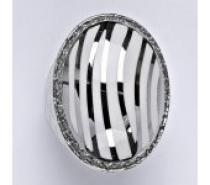 Čistín stříbrný prsten s čirými zirkony, 14,07 g
