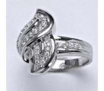 Čistín stříbrný prsten, syntetický čirý zirkon, 7,2 g