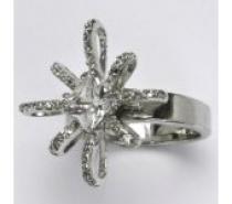 Čistín stříbrný prsten s čirými zirkony, 6,57 g