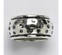 Čistín stříbrný prsten s patinou, 15,81 g