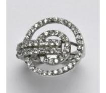Čistín stříbrný prsten s čirými zirkony, je 8,28 g