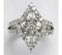 Čistín stříbrný prsten s čirými zirkony 12,41 g