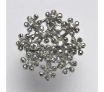 Čistín stříbrný prsten s čirými zirkony, je 7,21 g