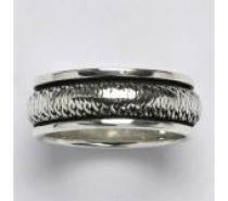 Čistín stříbrný prsten s patinou, 8,35 g
