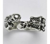 Čistín stříbrný prsten s patinou, 9,77 g