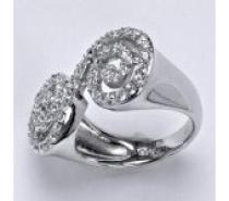 Čistín stříbrný prsten, syntetický čirý zirkon, 5,9 g