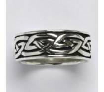 Čistín stříbrný prsten s patinou, 7,83 g