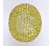 Čistín stříbrný prsten se zirkony, 10,86 g