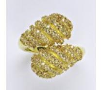 Čistín stříbrný prsten se zirkony, 8,30 g