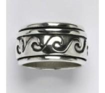 Čistín stříbrný prsten s patinou, 12,22 g