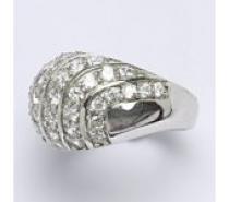 Čistín stříbrný prsten s čirými zirkony, 9,96 g