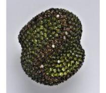 Čistín stříbrný prsten se syntetickými barevnými zirkony, 13,75 g