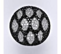 Čistín stříbrný prsten s černými a čirými zirkony, 13,00 g
