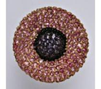 Čistín stříbrný prsten se syntetickými barevnými zirkony, 8,55 g