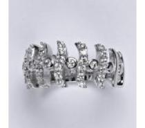 Čistín stříbrný prsten se syntetickými čirými zirkony, 5,91 g