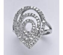 Čistín stříbrný prsten se syntetickými čirými zirkony, 4,67 g
