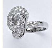 Čistín stříbrný prsten s čirými zirkony, 6,48 g