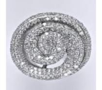 Čistín stříbrný prsten s čirými zirkony, 16,08 g