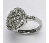 Čistín stříbrný prsten s čirými zirkony, 5,76 g