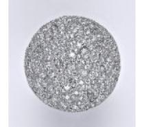 Čistín stříbrný prsten s čirými zirkony, 13,92 g
