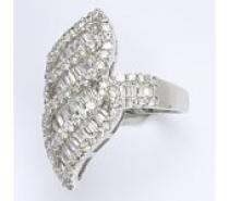 Čistín stříbrný prsten s čirými zirkony, 8,10 g