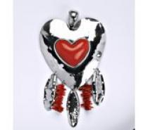 Čistín stříbrný přívěšek, srdce, 23,78 g