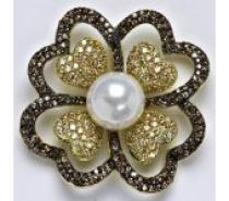 Čistín stříbrný přívěsek s barevnými zirkony a umělou perlou, 18,94 g