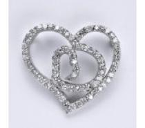 Čistín stříbrný přívěsek s čirrými zirkony srdce, 5,50 g