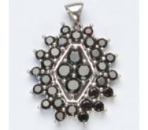 Čistín stříbrný přívěsek, přírodní granát, 5,67 g