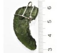 Čistín Přírodní vltavín, stříbrný přívěsek s vltavínem 4,62 g