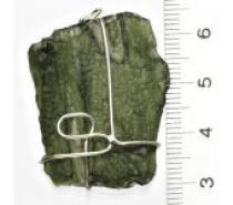 Čistín Přírodní vltavín, stříbrný přívěsek s vltavínem 8,24 g
