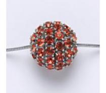 Čistín stříbrný přívěšek koule se Swarovski krystalem paparadscha P 1338