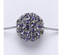 Čistín stříbrný přívěšek koule se Swarovski krystalem tanzanite P 1338