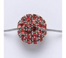 Čistín stříbrný přívěšek koule se Swarovski krystalem indian pink P 1338