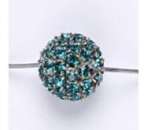 Čistín Koule se Swarovski krystalem celo stříbrná 16,5 mm blue zirkon přívěsek P 1338