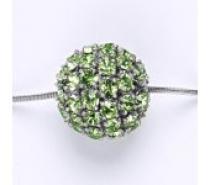 Čistín Koule se Swarovski krystalem celo stříbrná 16,5 mm peridot přívěsek P 1338