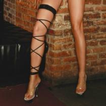 Electric lingerie Šněrovací podvazek Twisted Leg