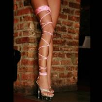 Electric lingerie Šněrovací podvazek . Twisted Leg růžový