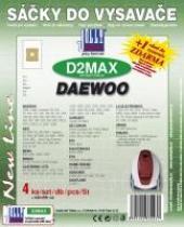 Sáčky do vysavače Daewoo RC 107 textilní 4ks