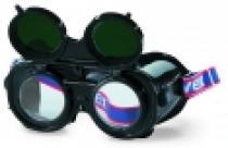 UVEX SAFETY Brýle svářečské uzavřené výklopné ochranné předsádky zelené zorníky