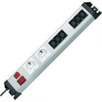 Kopp se spínačem, síťové zásuvky, 6 IEC zásuvek