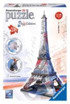 RAVENSBURGER 216 dílků - Eiffelova věž 3D (vlajková edice)