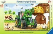 RAVENSBURGER 15 dílků - Traktor na statku