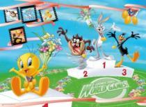 RAVENSBURGER 200 dílků - Looney Tunes: Na stupních vítězů