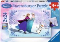 RAVENSBURGER 2x24 dílků - Ledové království: Sestry navždy 2v1