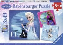RAVENSBURGER 3x49 dílků - Ledové království 3v1
