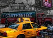 RAVENSBURGER 1000 dílků - Žluté taxi (Gloss Effect)